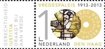 100 jaar Vredespaleis - Justitia + tab