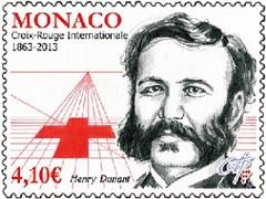 Henry Dunant postzegel Monaco 2013