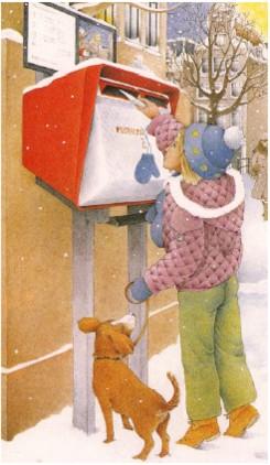 brievenbus met schildje erboven