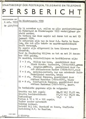 persbericht kind 1955