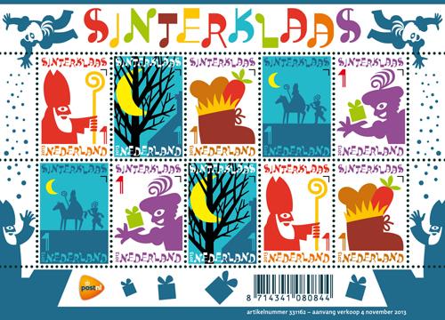 Sinterklaaspostzegels