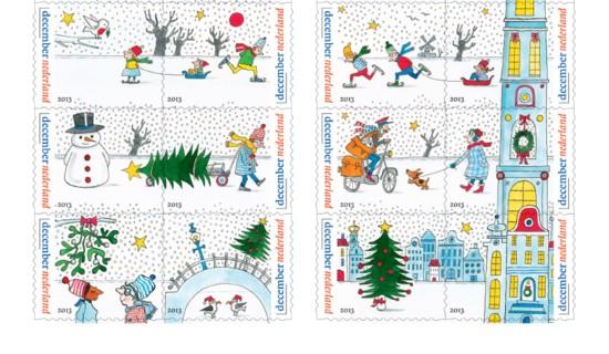 Decemberzegels rij 3, 4 en 5