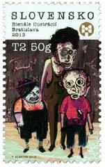 kinderboekenillustratie op postzegel Slovenie