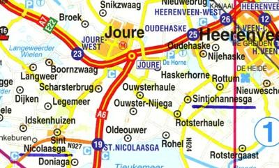 Geografische kaart Sint Nicolaasga