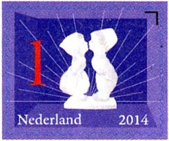 Kussend paartje - Nederlandse iconen