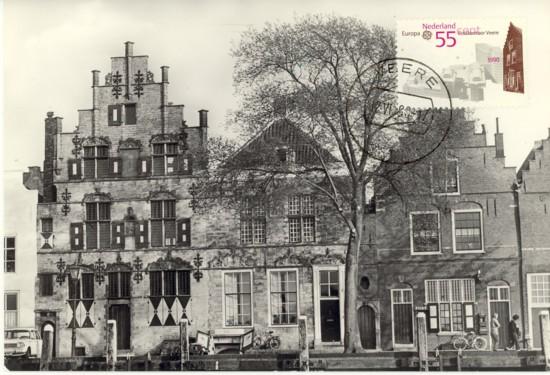 Maximumkaart trapgevel postkantoor Veere