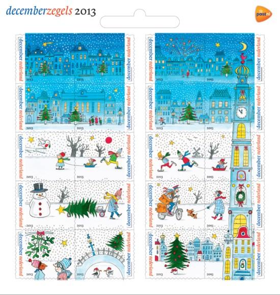 Vel Decemberzegels 2013