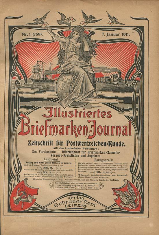 illustratie briefmarken journaal