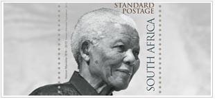 Nelson Mandela postzegel Zuid Afrika 2014