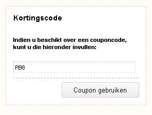 couponcode toepassen PostBeeld