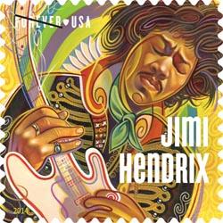 Jimi Hendrix postzegel USA