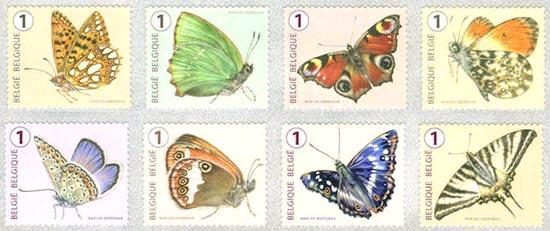6 oktober Vlinders van M.Meersman, Doos met rolzegels (Ned)