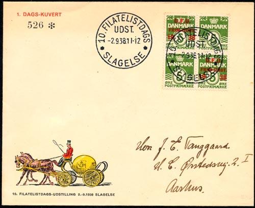 Denemarken FDC 1938