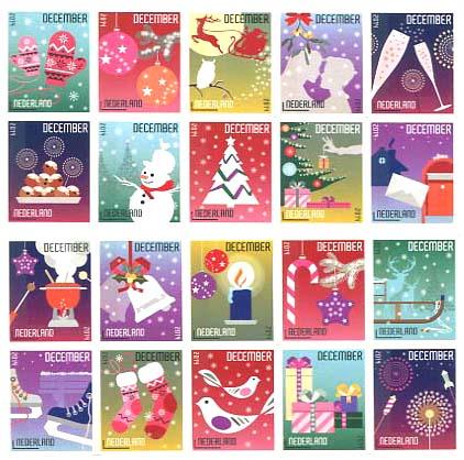 Decemberzegels Nederland 2014
