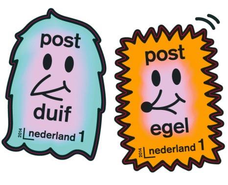 post egel en postduif