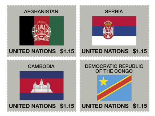 United Nations vlaggen postzegels