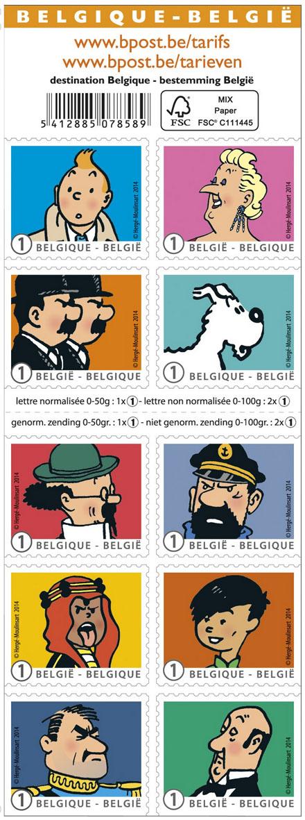 22 april Kuifje en zijn vrienden - Het postzegelboekje