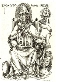 kopergravure Willibrordus