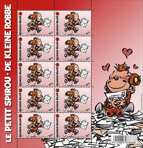 Robbedoes postzegel België 2014