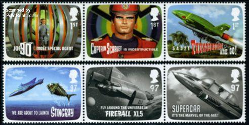 Deze serie van zes postzegels zijn uitgegeven door Royal Mail in 2011