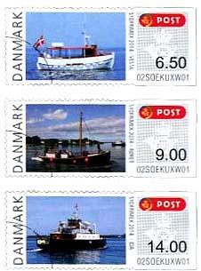 Automaatzegels Denemarken Schepen 2014