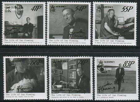 Postzegelserie Ian Fleming Alderney adp31404