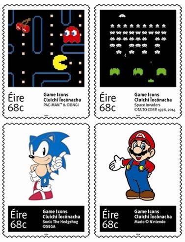 Classic computergames op postzegels Ierland 2014