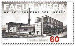 Fagus-Werk Alfeld op postzegel uit 2014
