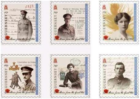 Guensey World War I postzegels 2014