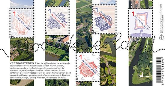 Mooi Nederland 2015 - Vestingsteden verzamelvel