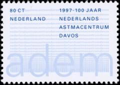 NVPH 1731 - 100 jaar Nederlands Astmacentrum Davos