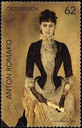 Postzegel Oostenrijk Anton Romako