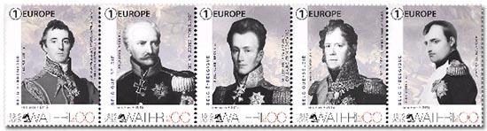 Postzegels België 2015 200 jaar Waterloo 1 juni