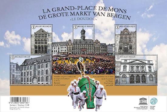 Postzegels België 2015 De Grote Markt van Mons juni