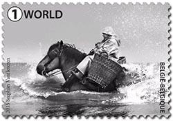 Postzegels België 2015 Garnaalvisser te paard 29 juni