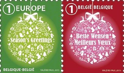 Postzegels België 2015 Kerstmis & Nieuwjaar (Europa) 26 oktober