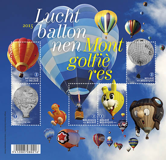 Postzegels België 2015 Luchtbalonnen 7 septemberi