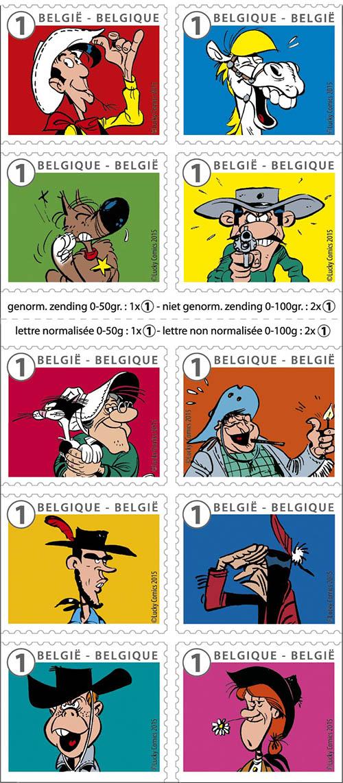 Postzegels België 2015 Lucky Luck (Lucky Luke) 13 april