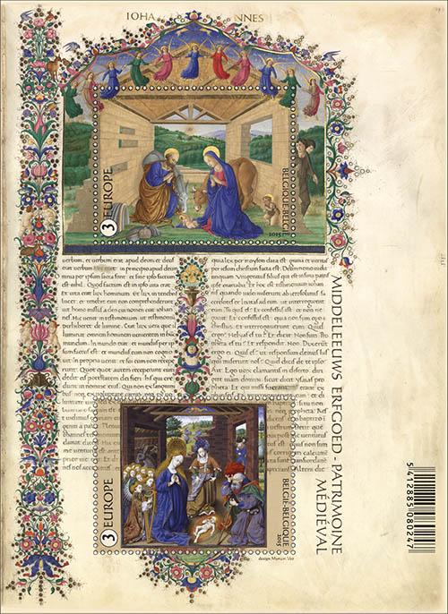 Postzegels België 2015 Middelleeuwse miniaturen 26 oktober