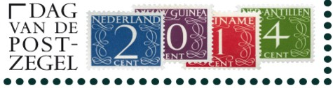 Vier postzegels op postzegel