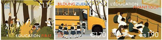 postzegels Verenigde Naties Educatie 2014
