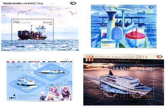 schepen op Noedern postzegels