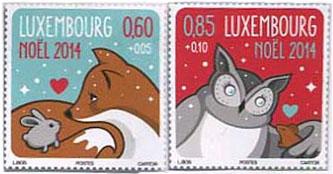 Kerstzegel Luxemburg 2014