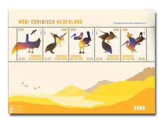 Saba postzegelvel Mooi Caribisch Nederland 2014