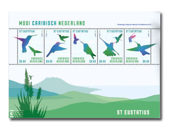 St Eustatius postzegelvel Mooi Caribisch Nederland 2014