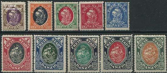 Postzegels Danzig