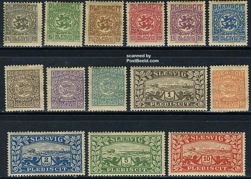 Postzegels Sleeswijk