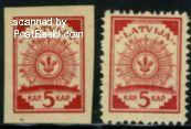 Postzegels Letland
