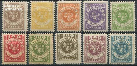 Postzegels Memel