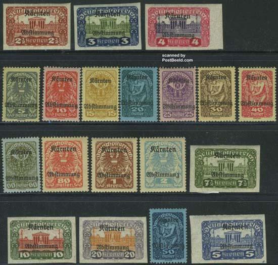 Postzegels Karinthië